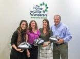 Photo: Attorney David White stopped at The Home for Little Wanderers this week and delivered bicycle helmets from Breakstone, White & Gluck's Project KidSafe campaign. He was greeted by (left) Paige Oldaker, Leadership Gifts Officer; Johanna Lauer, Volunteer Mentor; and Taryn Marino, Manager of Volunteer and Mentor Programs. (next to David).