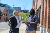 Attorney David W. White with Kessen Green, the department's director of outreach & community programs.
