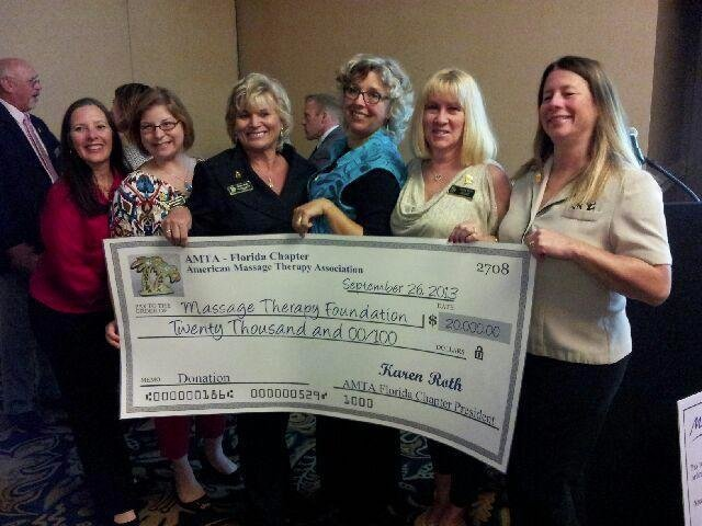 AMTA-FL Chapter Gives Donation to Massage Therapy Foundation, MASSAGE Magazine