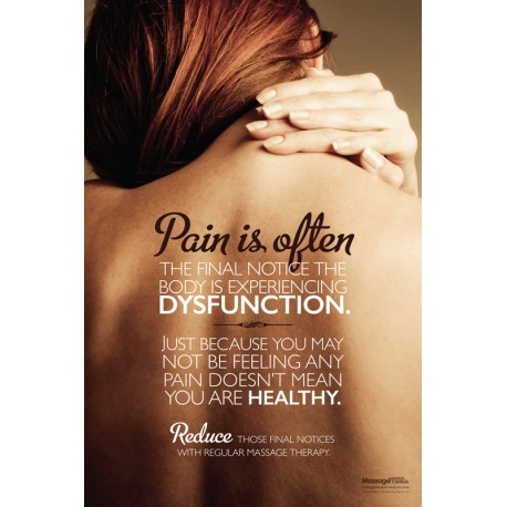 Massage Therapy Pain Poster