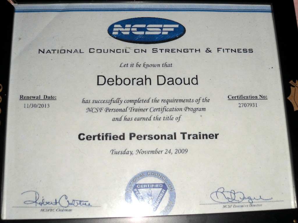 Deborahaburlet Daoud Personal Trainer Certificate Massage In