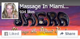 Massage In Miami Beach Facebook like page pic