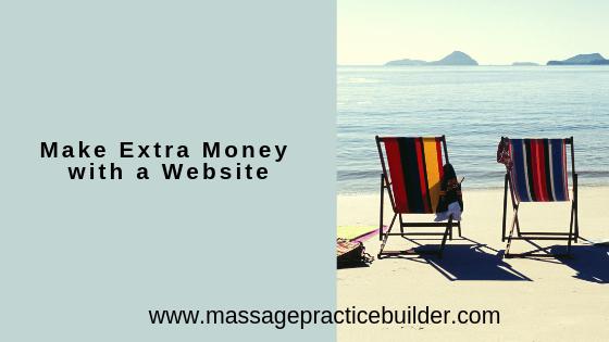 make extra money with a website