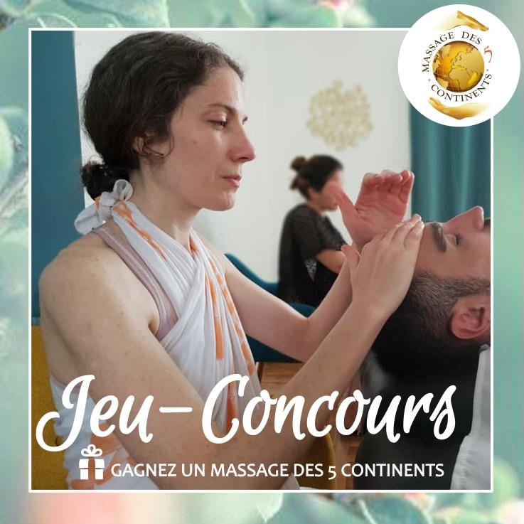 Jeu-concours Massage des 5 continents