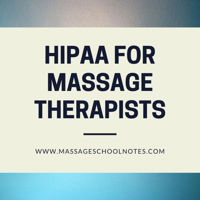 HIPAA for Massage Therapists