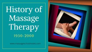 History of Massage Therapy 1950-2000