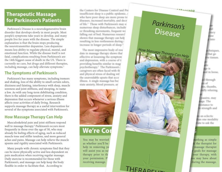 Parkinson's Disease Massage New Style Brochures