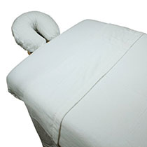 Massage-Table Flannel Sheet Set White