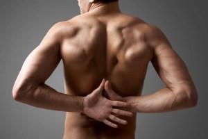 Rugpijn, pijn, onderrug, man, rug