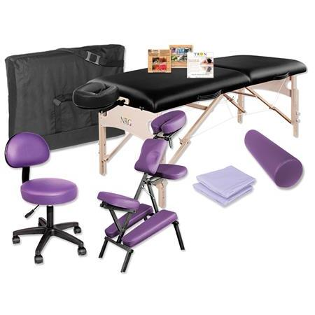 NRG Vedalux Massage Table  Grasshopper Massage Chair Package