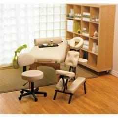 Nrg Massage Chair Swing Gray Karma Table, Chair, Stool & Bolster Package