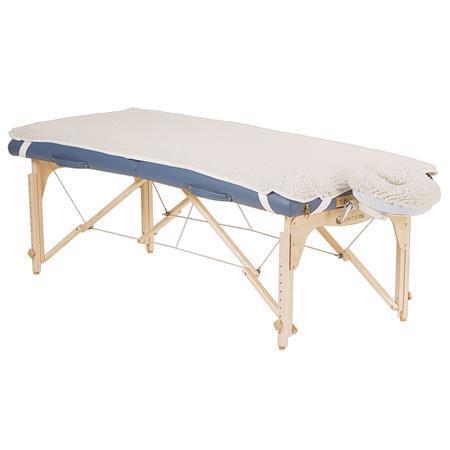 EarthLite Basic Fleece Pad  Crescent Massage Table Covers