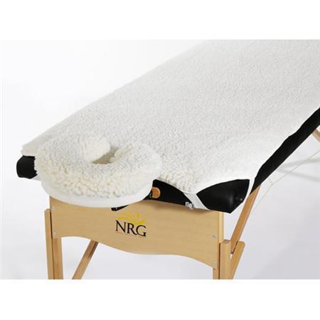 NRG Fleece Massage Table Warmer Pad  Face Rest Cover set