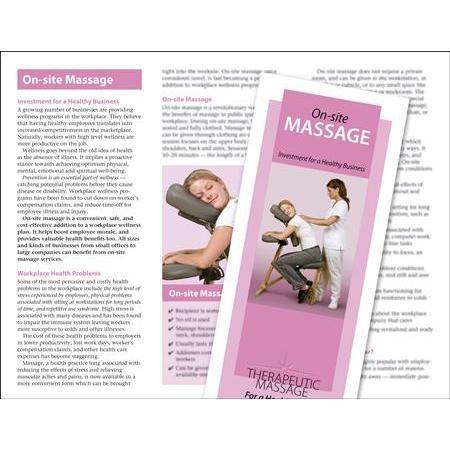 Buy OnSite Chair Massage Brochure 50 Pack