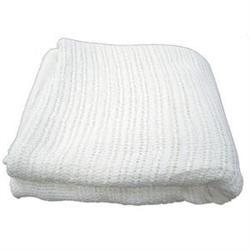 Thermal 100 Cotton Massage Blanket  White  66 x 96