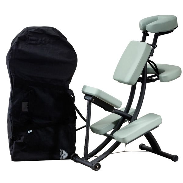 chair massage accessories outdoor double rocking white seats 2 chairs for sale portable pads oakworks portal pro 3 package