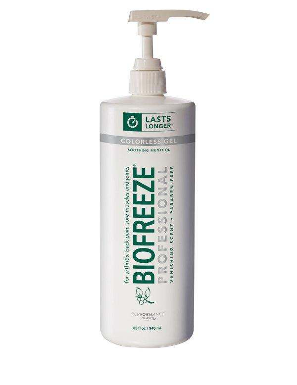 Biofreeze Pro Gel- 32 Oz Gel Pump Colorless