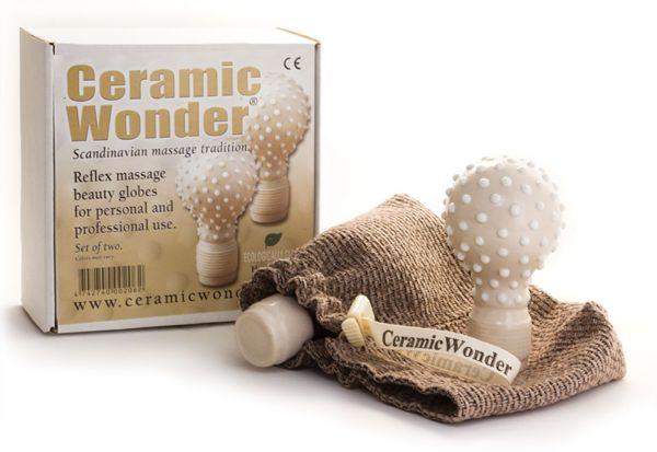 Ceramic Reflex Massage Body Globes White
