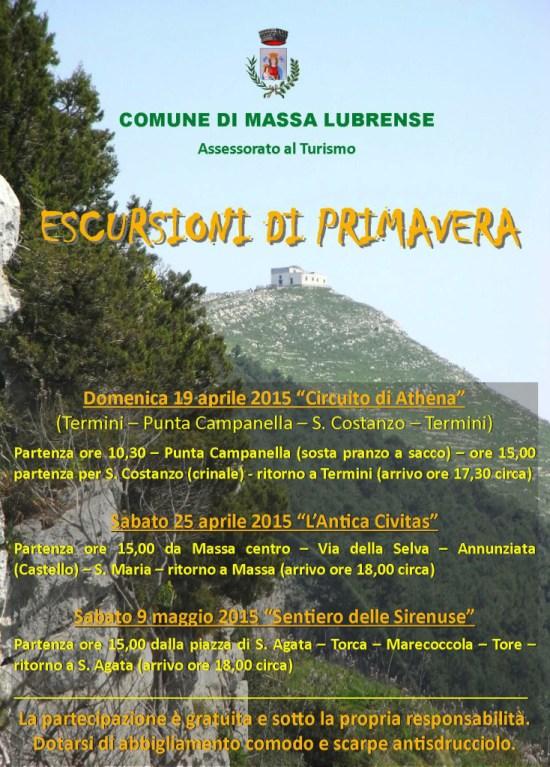 escursioni di primavera massa lubrense 2015