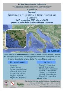 Locandina corso geografia turistica 2015