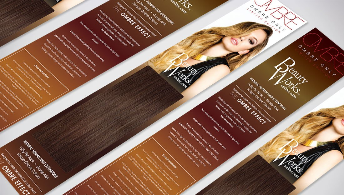 Packaging  Branding Design for Ombre Only Hair Extensions