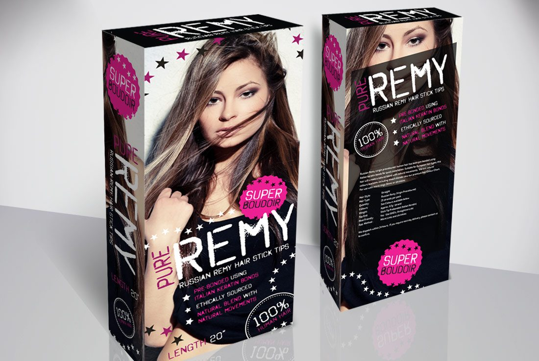 Box Packaging Design For Russian Remy Hair Extensions