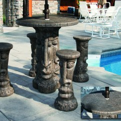 Bar Chairs Concrete Chair Cover Rentals Windsor Ontario Tiki Table Set Height Massarelli 39s