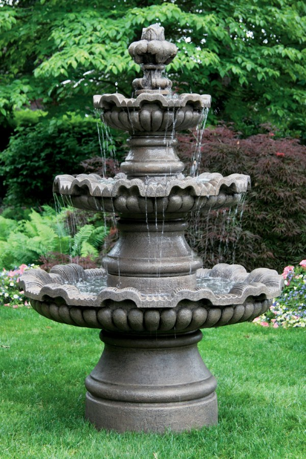 3 Tier Concrete Water Fountain
