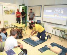 300 niños de nueve colegios de la Isla se formaron en el taller 'Con tus manos puedes salvar vidas'