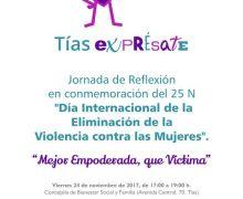 Tías organiza este viernes una jornada de reflexión ante el Día Internacional de la Eliminación de la Violencia de Género