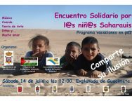 ENCUENTRO SOLIDARIO EN FAVOR DE LOS NIÑ@S SAHARAUIS