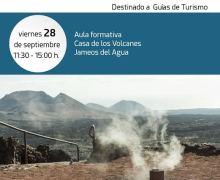 Geoparque Lanzarote y Archipiélago Chinijo organiza un taller de capacitación para guías de turismo sobre el patrimonio geológico de los Centros