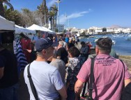 Locura de cruceristas por las calles de Arrecife