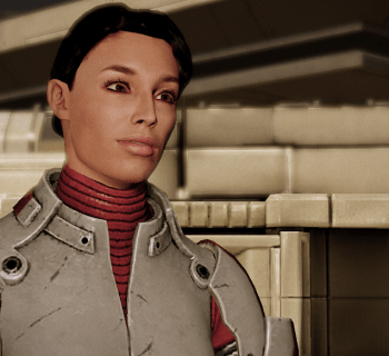 Ashley Williams auf Horizon in Mass Effect 2