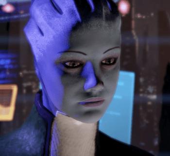 Liara in ihrem Büro in Mass Effect 2