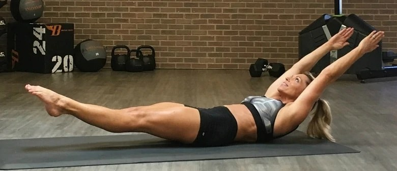 Hollow body hold exercise