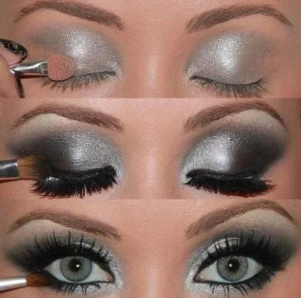 Silver and black shades