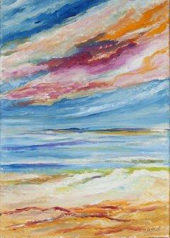 Massimiliana Bettiol Aurora sul mare (olio su tela, 50×70, 2014