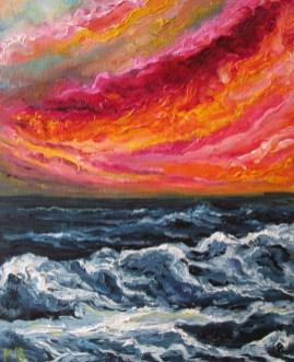 Massimiliana Bettiol Oceano (olio su tela, 80×100, 2011)