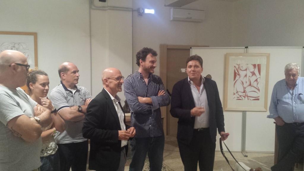 Nella foto da destra, Massimo Lucidi, Michelangelo Toffetti, Aldo Bertolini, Marco Serra Tarantola