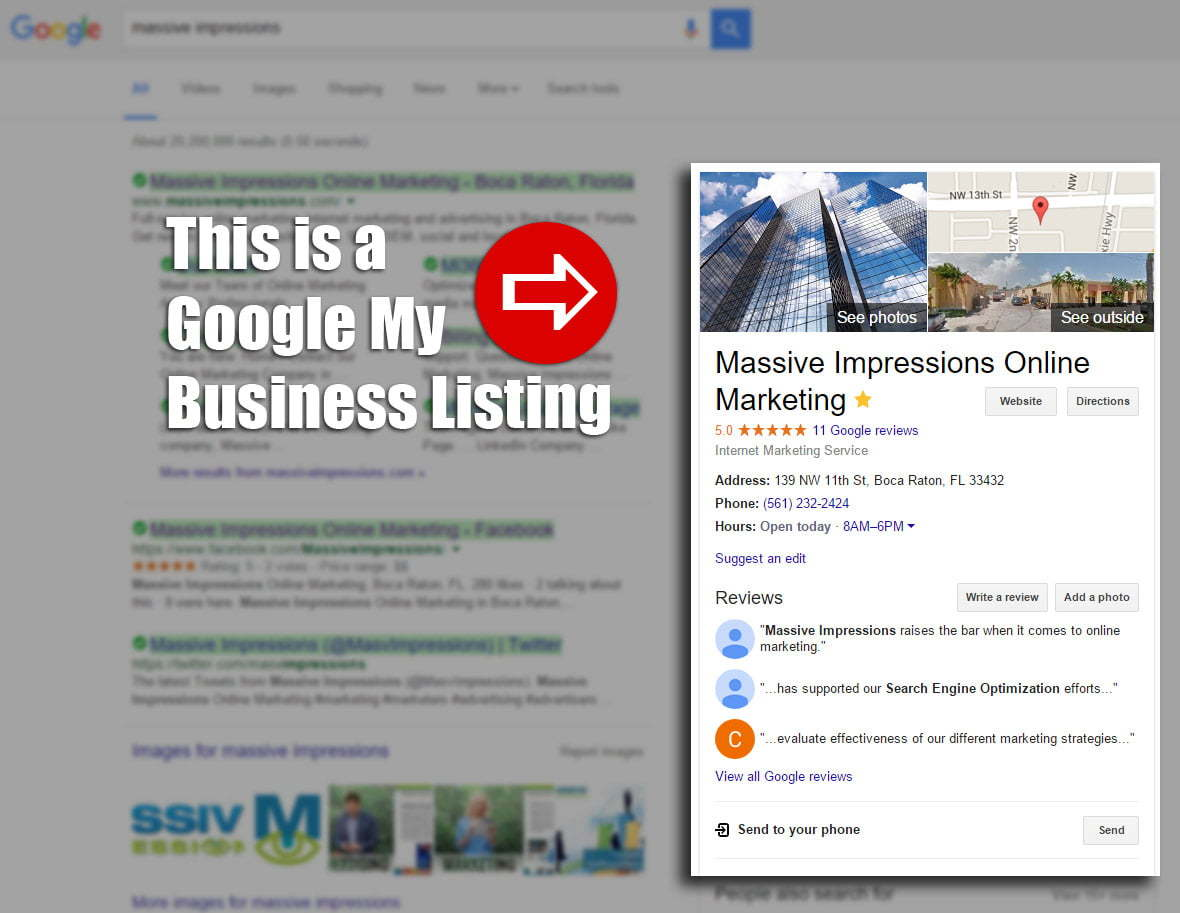 our google my business listing