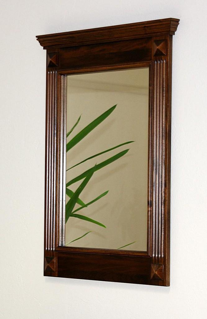 Massivholz Spiegel mit Holzrahmen Wandspiegel 60x83