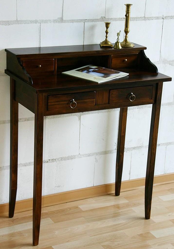 Massivholz Sekretr Schreibtisch mit 4 Schubladen  Holz massiv kolonial