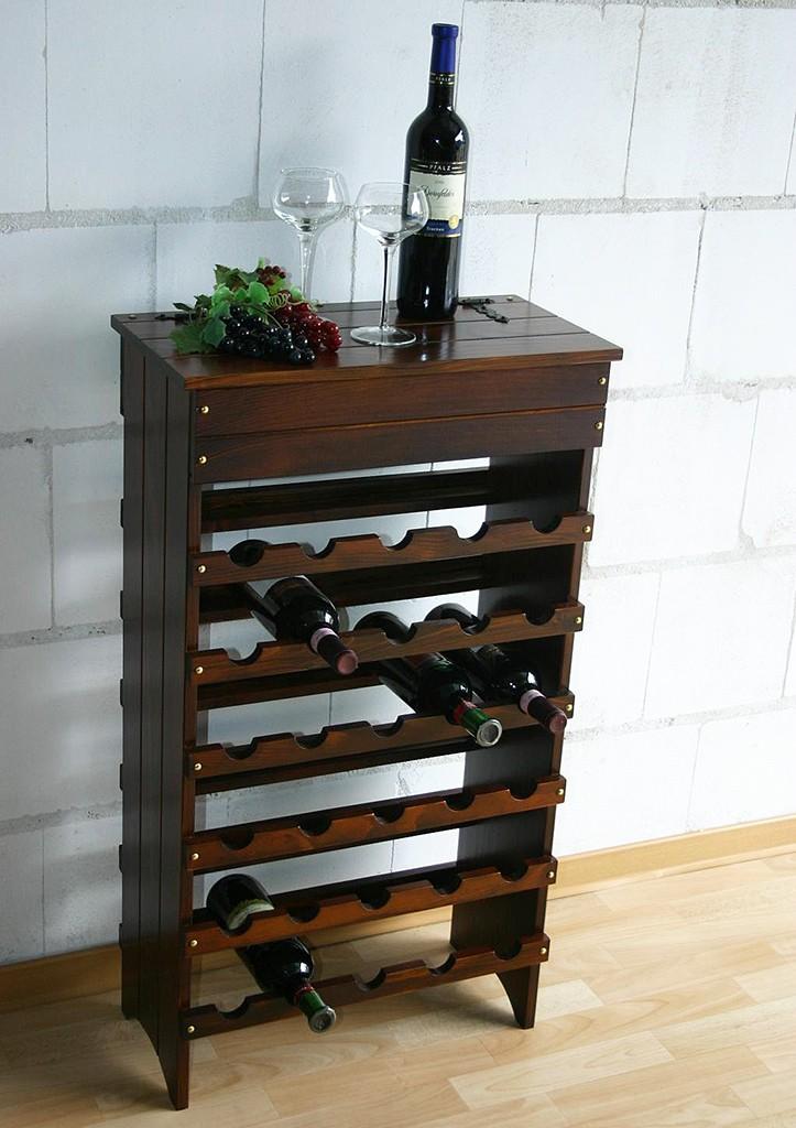 Weinregal Flaschenregal 30 Flaschen  Holz Fichte massiv