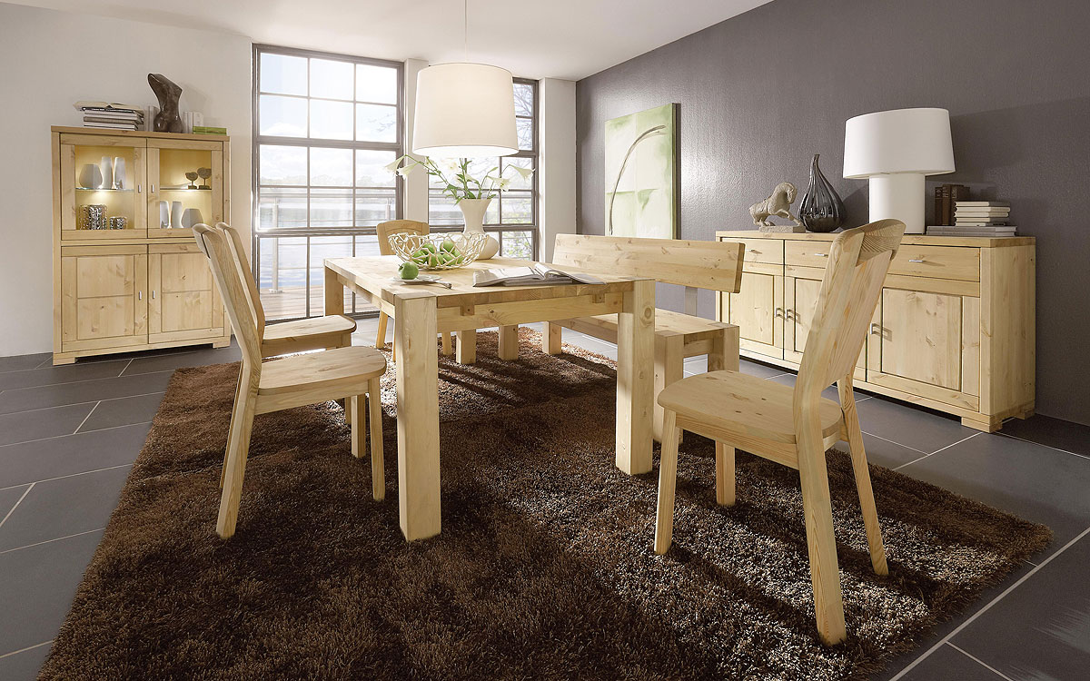 esszimmer gefertigt aus kiefer massivholz
