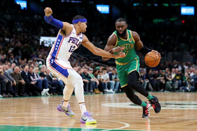 Boston Celtics vs. Philadelphia 76ers Game 1: Jaylen Brown thinks Sixers  are 'smiling' at being counted out - masslive.com
