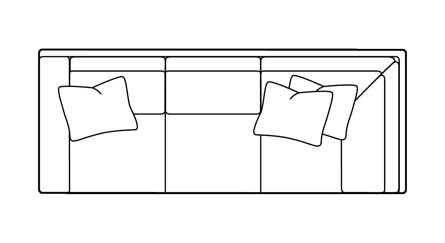 left arm return sofa rv bed mattress topper custom choices massoud furniture