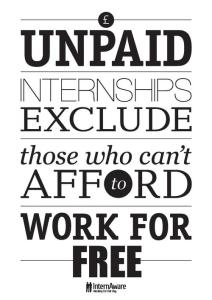 Don't Pay Interns, Can't Have Interns