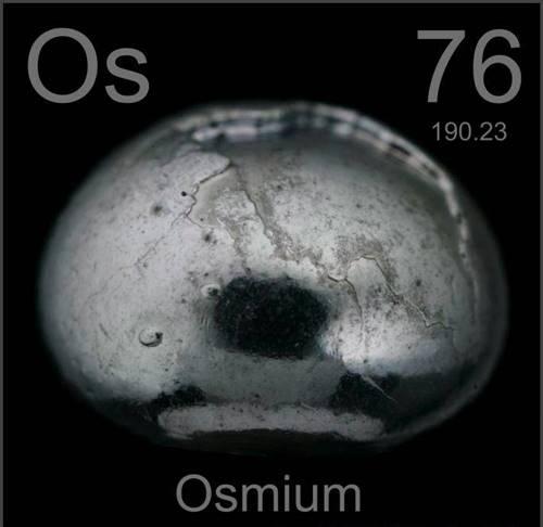 Osmium (Os) : Unsur, Sifat dan Kegunaan