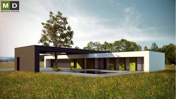 Bungalow Flat Roof Houses Design